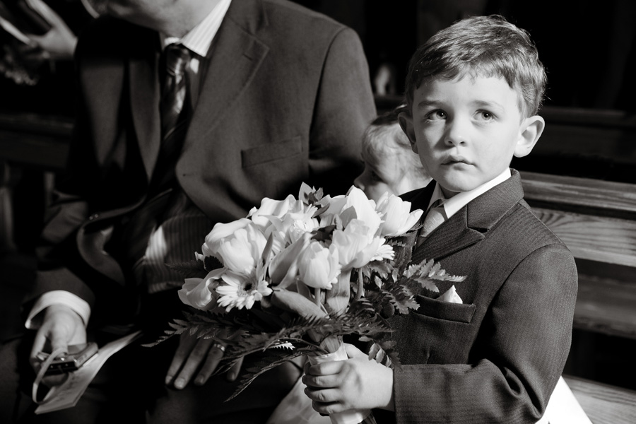 pageboy in chapel